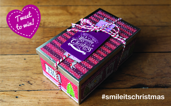 Tweet your photo with the #smileitschristmas for a chance to win this yummy box of Biscuiteer's Jolly Gingers